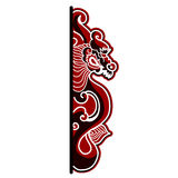 Chinese dragon on white background. Hand drawn chinese dragon on white background Stock Photo