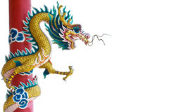Chinese dragon on white backgrounds. Royalty Free Stock Images