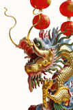 Chinese dragon on white backgrounds. Royalty Free Stock Image