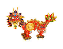 Chinese dragon on white. Symbol of 2012. Traditional Chinese dragon figurine. Symbol of 2012 new year and years 2024 2036 2048 2060 2072 2084 2096. Focus on Royalty Free Stock Photography