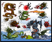 Chinese dragons vector illustration