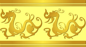 Chinese dragons royalty free illustration