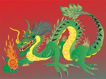 DRAGON FIERN CHINESE NATIONAL SYMBOL №4. Chinese dragons also penetrated other Asian countries that somehow got under the Chinese influence. However, there are Royalty Free Stock Images