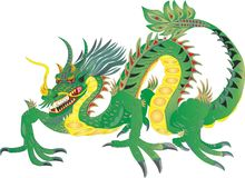 DRAGON FIERN CHINESE NATIONAL SYMBOL CHINA. Chinese dragons also penetrated other Asian countries that somehow got under the Chinese influence. However, there Stock Photo