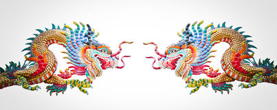 Chinese dragons. Isolated on white Royalty Free Stock Images