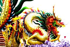 Chinese Dragons Isolation royalty free stock images