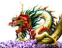 Chinese Dragons Isolation NO.02. Whenever we think of a Chinese festival we will miss dragons stock photo