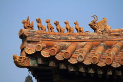 Chinese Dragons on a Roof Royalty Free Stock Photography
