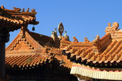 Chinese Dragons on a Roof Stock Photography
