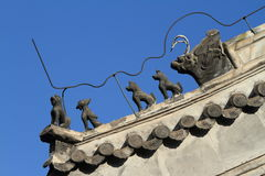Chinese Dragons on a Roof Royalty Free Stock Photos