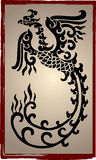 Chinese Dragons Silhouette - Tattoo royalty free illustration
