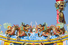 Chinese dragons statue. stock photos