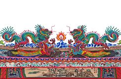 Chinese dragons. On the temple roof Stock Photo