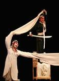 Chinese drama. Chinese traditional drama --man and woman Royalty Free Stock Photography