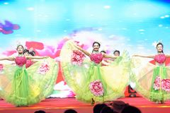 Chinese dream dance-Women entrepreneurs chamber of Commerce celebrations. In March 18, 2018, organized by the Nanchang Municipal Chamber of women entrepreneurs Royalty Free Stock Photos