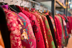 Chinese dress shop Stock Images