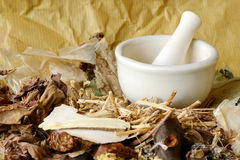 Chinese Dried Herbal Medicine. Royalty Free Stock Photography