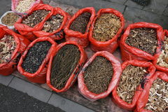 Chinese dried vegetable in the market Royalty Free Stock Images