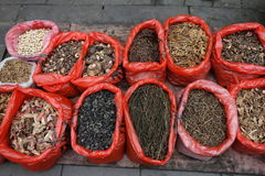 Chinese dried vegetable in the market Royalty Free Stock Photos