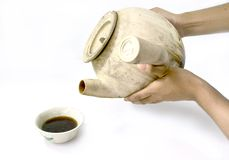 Chinese  drink. Ancient Chinese medicine to boil in a pot Royalty Free Stock Photo