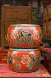 Chinese drum. Antique city of Beijing. This is a very famous market of antique of Beijing Royalty Free Stock Photos