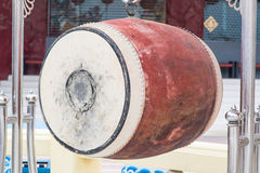 Chinese drum in chinese temple Royalty Free Stock Photos