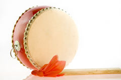 Chinese drum and drumstick Stock Images