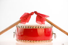 Chinese drum and drumstick Stock Image