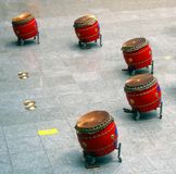 Chinese Drum Set. This type is called Tagu in Chinese and Taiko in Japanese Royalty Free Stock Photos