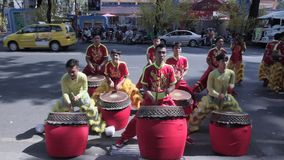 Chinese drummers stock footage