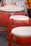 Chinese Drums. During a Chinese New Year celebration Royalty Free Stock Photo