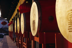 Chinese drums Royalty Free Stock Photos