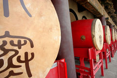 Chinese Drums. The drum tower in Xi'an, China royalty free stock images