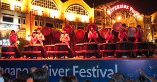 Chinese Drums Performance Royalty Free Stock Image
