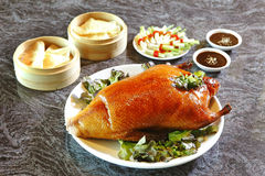 Chinese duck roasted and dimsum Royalty Free Stock Photos