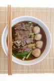 Chinese duidelijke soep met gekookte ingewanden en groenten Royalty-vrije Stock Afbeelding