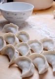 Chinese Dumpling. On close-up Stock Image