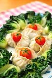 Chinese Dumplings And Vegetables