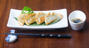 Chinese dumplings on the background Royalty Free Stock Photo