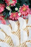 Chinese dumplings and flowers Stock Photography