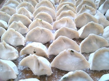 Chinese dumplings. Home made Chinese dumplings on spring festival Royalty Free Stock Photo