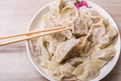 Chinese dumplings. Jiaozi, traditional food for Chinese New Year festival Royalty Free Stock Photography