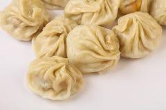 Chinese dumplings - Momo. Stuffed prawn, chicken, beef or pork Royalty Free Stock Images