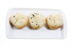 Chinese Dumplings on Plate Royalty Free Stock Image