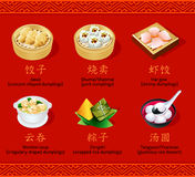Chinese dumplings, set I Royalty Free Stock Photography
