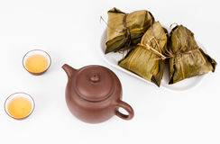 Chinese  Dumplings, Zongzi in White Background Royalty Free Stock Image