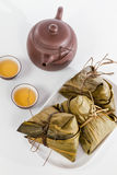 Chinese  Dumplings, Zongzi in White Background Royalty Free Stock Photography