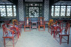 Chinese dwelling. The indoor scenery of ancient Chinese dwelling Royalty Free Stock Photos