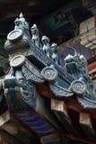 Chinese eave van de oude bouw. Royalty-vrije Stock Afbeeldingen