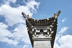 Chinese eaves. THE Chinese eaves have  many years of history Stock Photo
